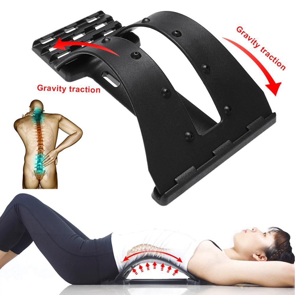Back Massage Stretcher Fitness Sport Support Lumbar Pain Relief Tool massage tractor 35DC26