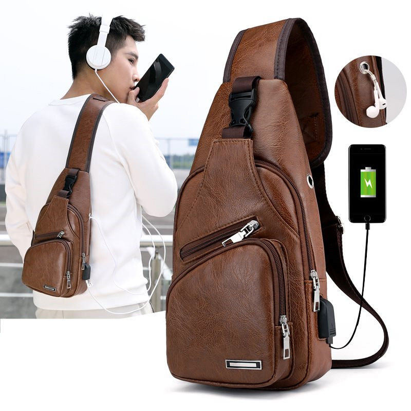 Дизайнерские мужские нагрудные сумки из натуральной кожи, повседневные мешки на плечо, UBS деловые мессенджеры для мужчин, нагрудные мешки, м...