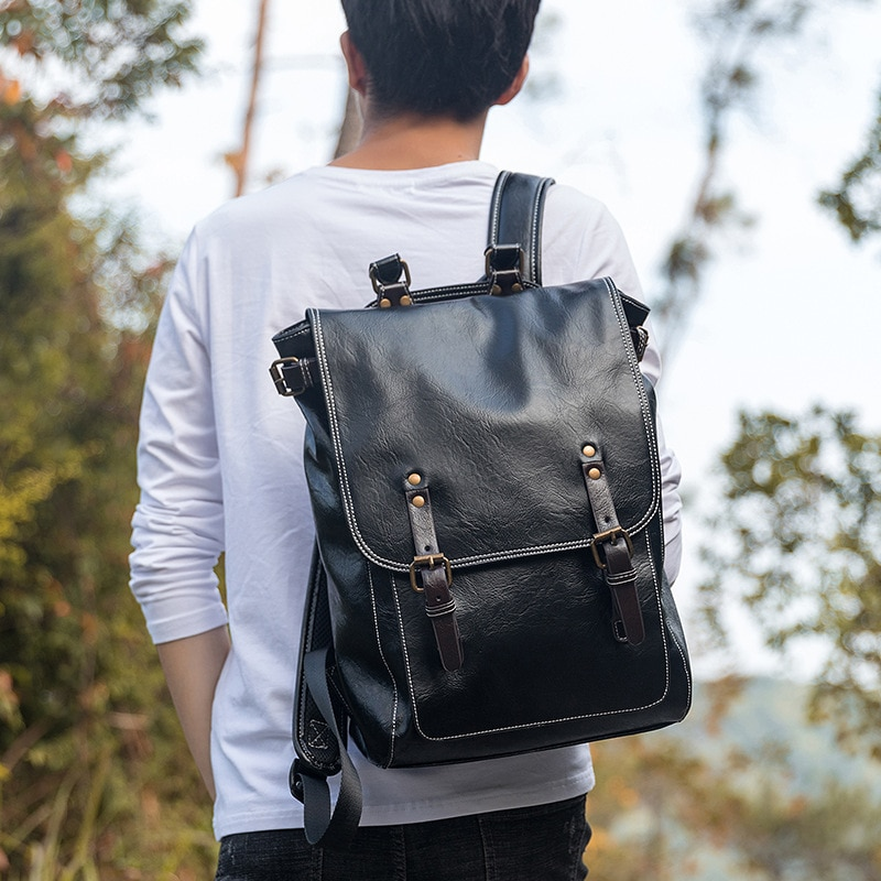 backpack men s korean wave casual backpack men s bags computer bags large and medium sized student bags fashion travel bags Backpack Men's Fashion Travel Bags Bags Casual Men's Fashion Computer Backpack