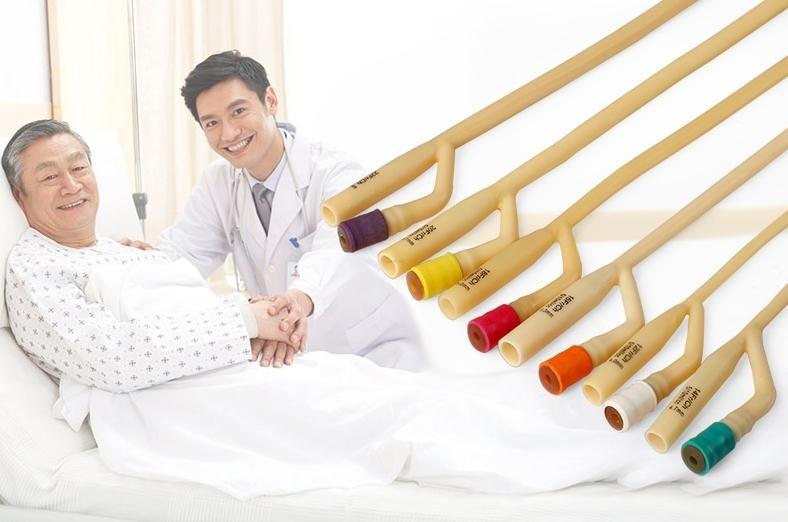 Frete grátis 5 cateter cavidade dupla mangueira de látex médico descartável estéril