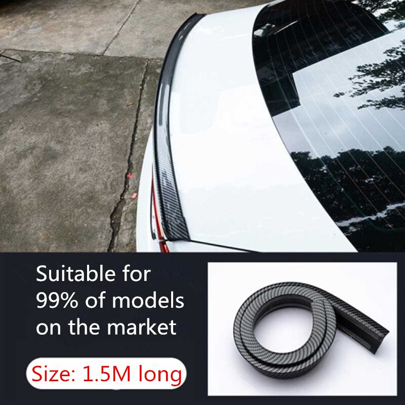 Coche Universal spoiler 5D de fibra de carbono de Refit spoiler para Volvo S40 S60 S80 S90 V40 V60 V70 V90 XC60 XC70 XC90