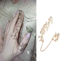 women adjustable double finger conjoined ring rhinestone bride ring wedding party jewelry gifts