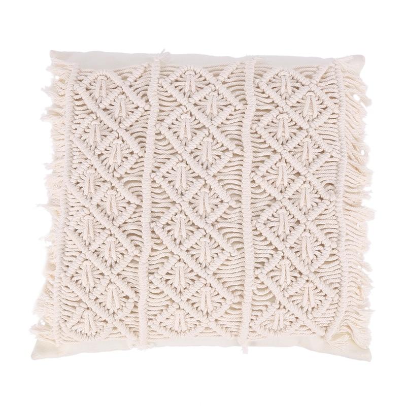 بوهو نمط القطن الكتان شرابات غطاء وسادة اليدوية رمي وسادة القطن حبل المخدة أريكة المنزل ديكور