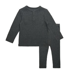 New Children Clothes Set for Girls Boys Kids Pajama Sets For Baby Ribbed With Pants Spring Autumn Soft Children Clothes RT771