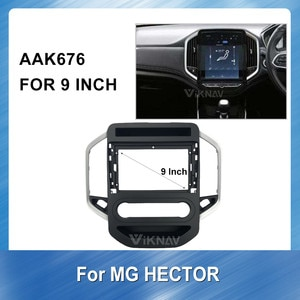 9 Inch Car DVD Player Frame For MG HECTOR Installation Dashboard ABS plastic Trim Multimedia NAVI fascia Installation Kit