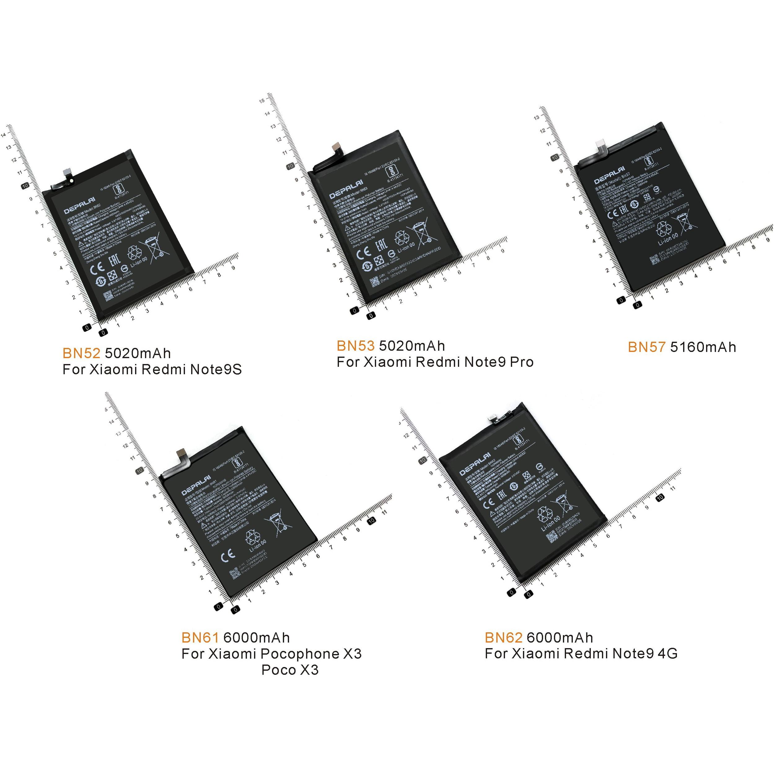 bn52 bn53 bn57 bn61 bn62 bateria para xiaomi note9s note9 pro pocofone x3 poco