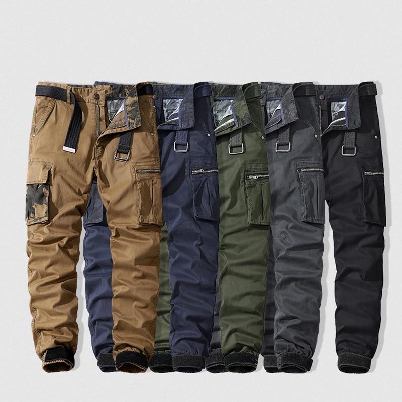 Качественные хлопковые брюки-карго, мужские брюки, новинка 2021, фирменные мужские спортивные брюки, брюки в стиле милитари, Мужские штаны для...