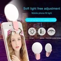 mini portable beautifying novelty makeup lightings led selfie lamp mobile phones photo night light led external sign selfie ring