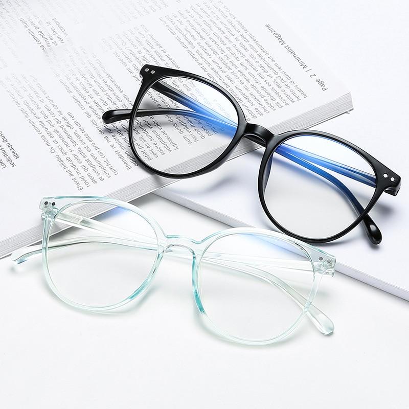 New Retro Blue Blocking Eyeglasses Flat Mirror Ultra Light Glasses Frame Rice Nail Men And Women Computer