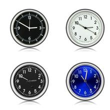 Luminous Car Clock Mini Automobiles Internal Stick-On Digital Watch Mechanics Quartz Clocks Ornament