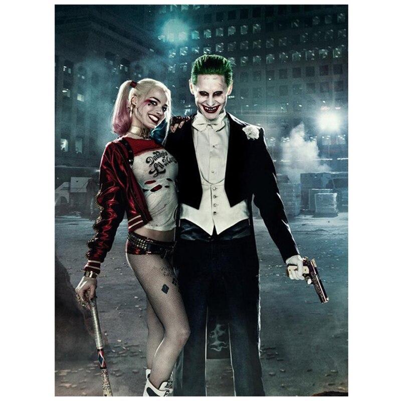 5d Diy diamante pintura película personaje Harley Quinn diamante bordado punto de cruz almaznaya completo cuadrado diamante costura