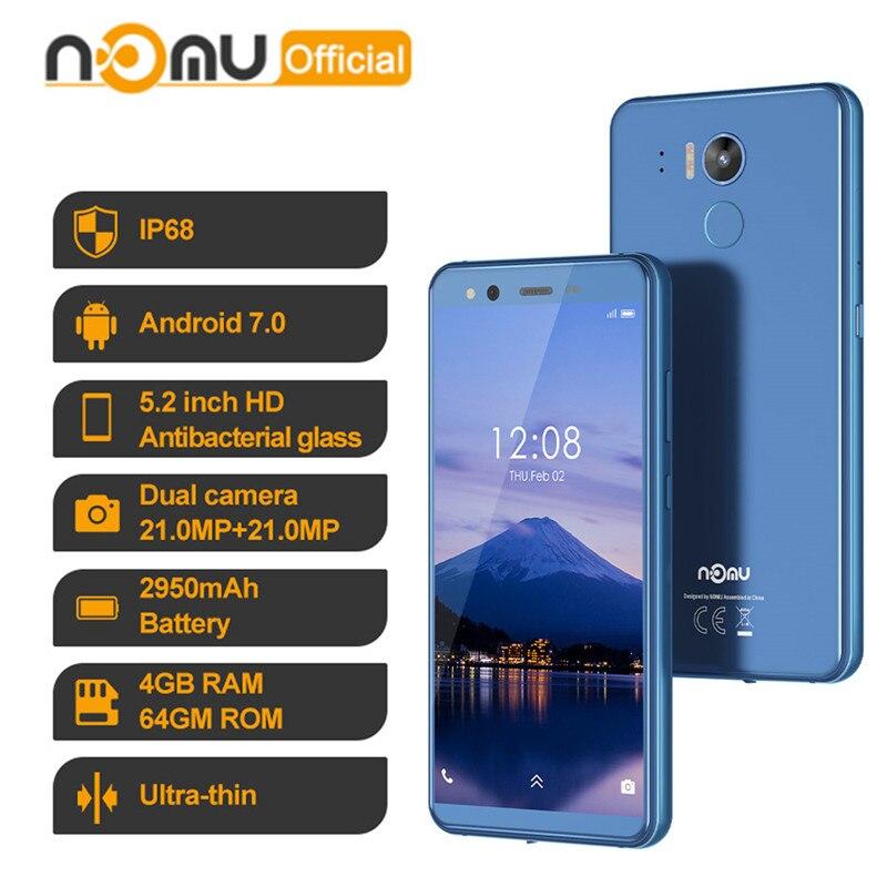IP68防水スマートフォンnomu M8 4ギガバイト64ギガバイトオクタコア4 4g lte 16MPアンドロイド7.0 MTK6750T 5.2 ''nfc otg耐衝撃携帯電話pk M6