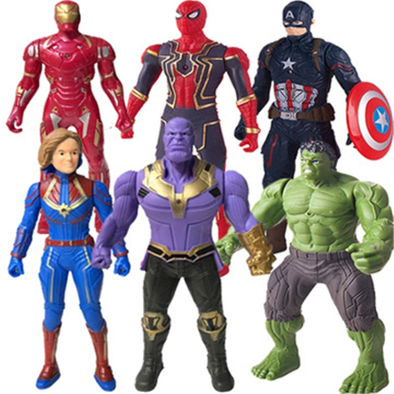 the super hero iron man case for airpods pro 1 2 anime captain american spiderman venom hulk model protect cover for airpod Marvel Toys Man PVC Action Figure Collectible Model Toy for Kids Children's Toys Ultimate Spiderman Hulk Captain America Iron