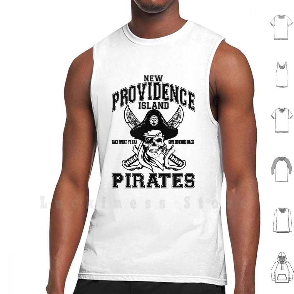 New Providence Island Pirates Tank Tops Vest Sleeveless Pirate Black Sails Black Beard Captain Flint Captain Vane Piracy