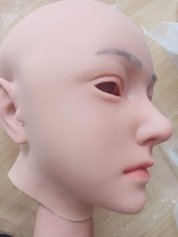 4G Evila الوجه قناع واقعية لينة سيليكون الإناث قناع ل تنكر هالوين قناع ل كروسدرسر السحب الملكة المتحولين جنسيا