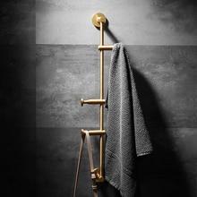 Porte-manteau mural en laiton de 60CM   Crochet pour vêtements, porte-chapeau de clé, support de rangement pour articles divers, étagère organisateur de chambre à coucher, outils de décoration pour la maison et lhôtel