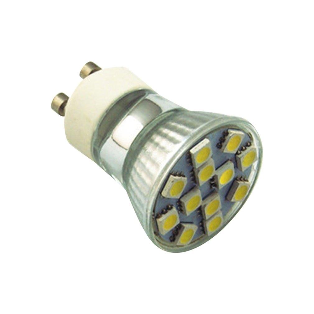 1 W Led Bi-Pin Lichter 200 Lm Gu10 12 Led Perlen Smd 5050 Tasse Lichter 220V Weiß dekorative Dauerhaft Helle Lampe