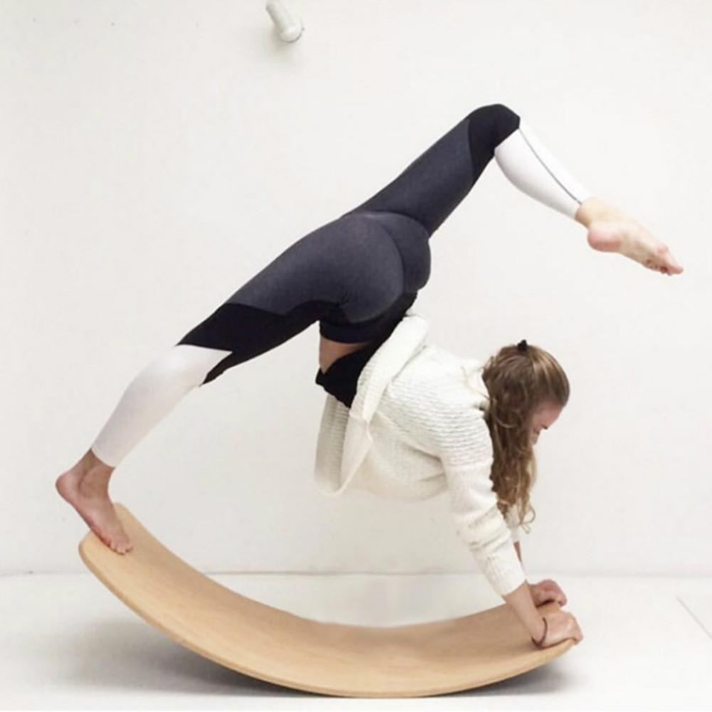 Balancín de madera para niños, balancín curvo para interiores, balancín para exteriores, tablero de Yoga, juguetes al aire libre para niños