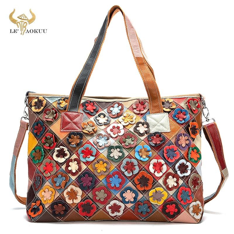 2021 متعدد الألوان جودة الجلود العلامة التجارية الفاخرة السيدات المرقعة محفظة كبيرة حقيبة يد حقيبة كتف المرأة تصميم حمل حقيبة 668