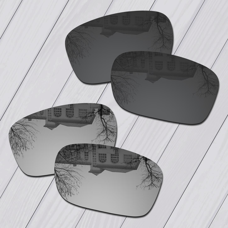 E.O.S 2 pares de negro y plata polarizadas lentes Oakley TwoFace OO9189 gafas de sol