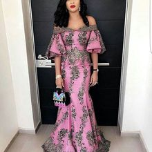 CloverBridal Off-The-Shoulder Mermaid African Evening Dresses High Quality Nigerian vestidos de fies