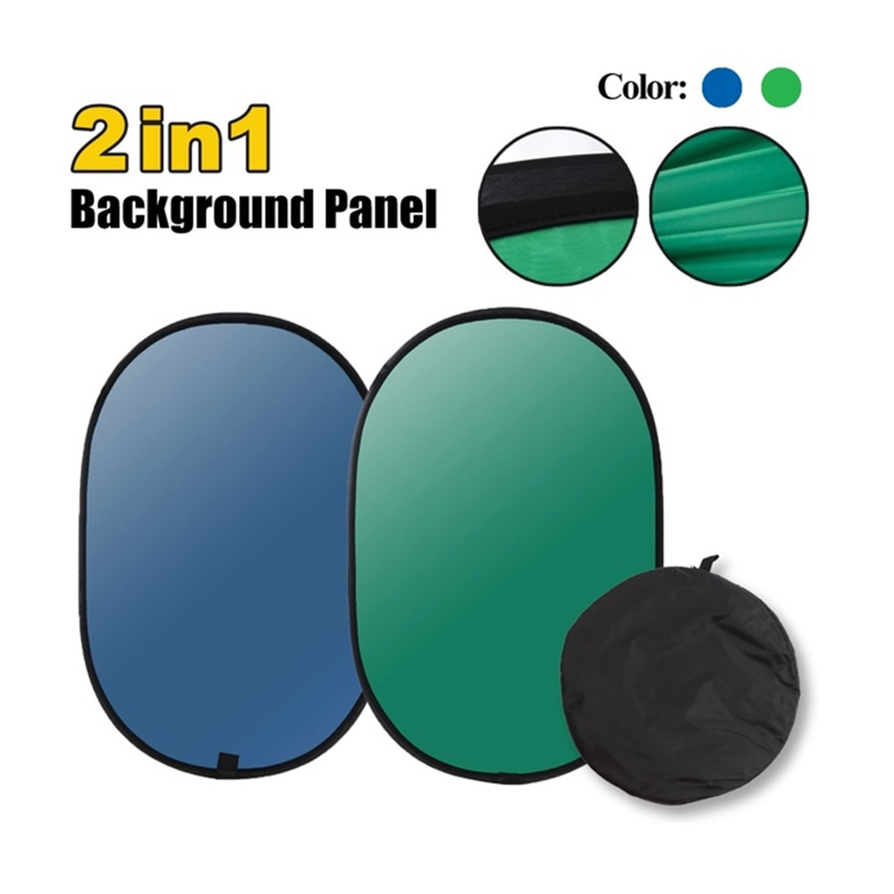 Portable Photography Reflector Chromakey Backdrop Green Screen Background For YouTube Video Studio 1
