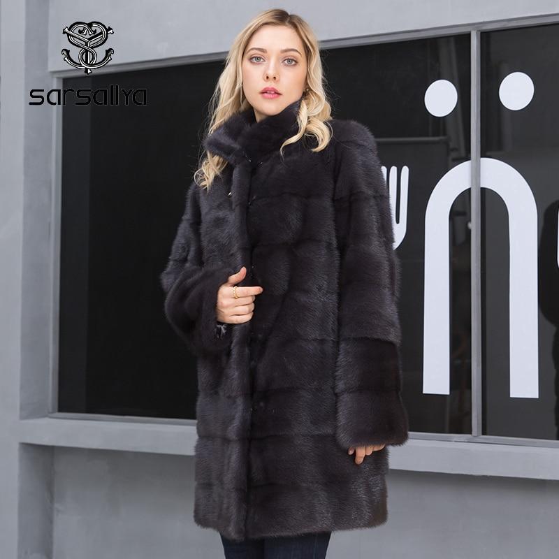 Women Mink Coats Real Mink Fur Coat Female Genuine Fur Jackets Long Ladies Winter Clothes Oversize 6