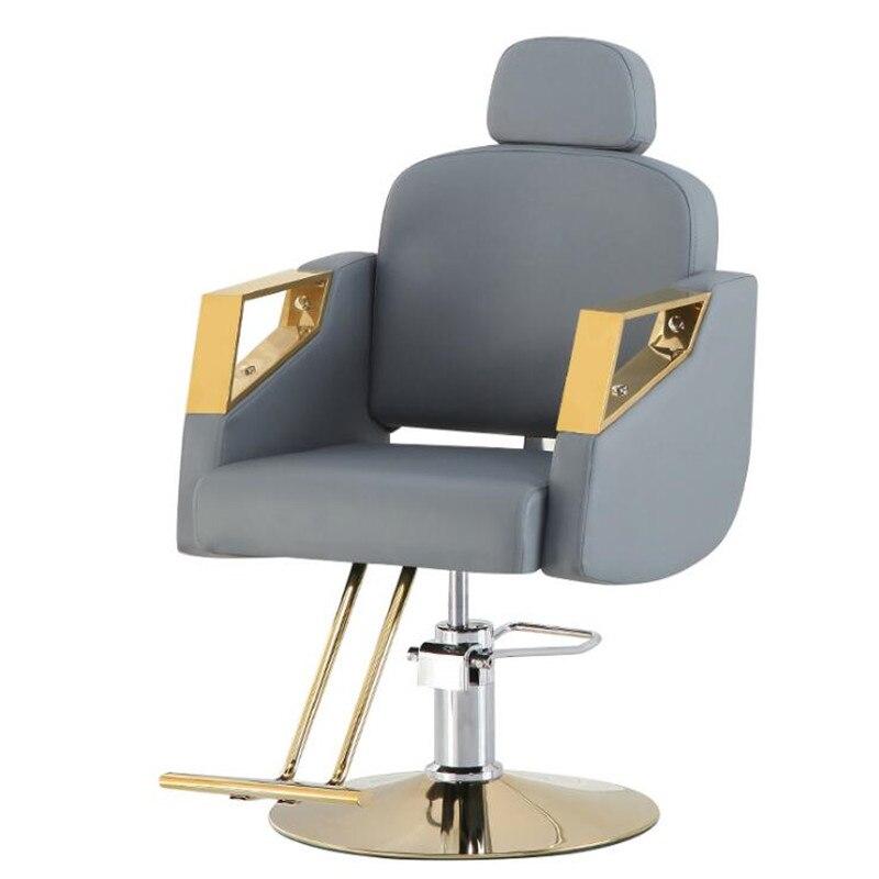 Silla giratoria de peluquería y elevable nuevo estilo para peluquería y venta...