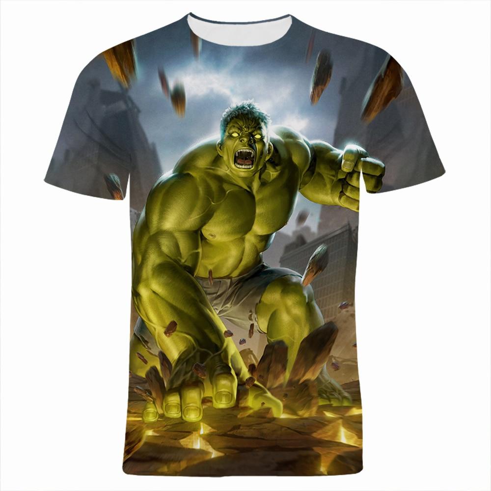 Hulk 3D Printed Men's Clothing Summer Casual Oversized Women T-shirts Marvel Short Sleeve Harajuku Children Tee Tops