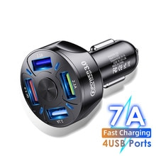 Car Charger Quick Charge QC 3.0 Car-Charger 4 Ports Fast Car Phone Charger Phone Car USB Charger for