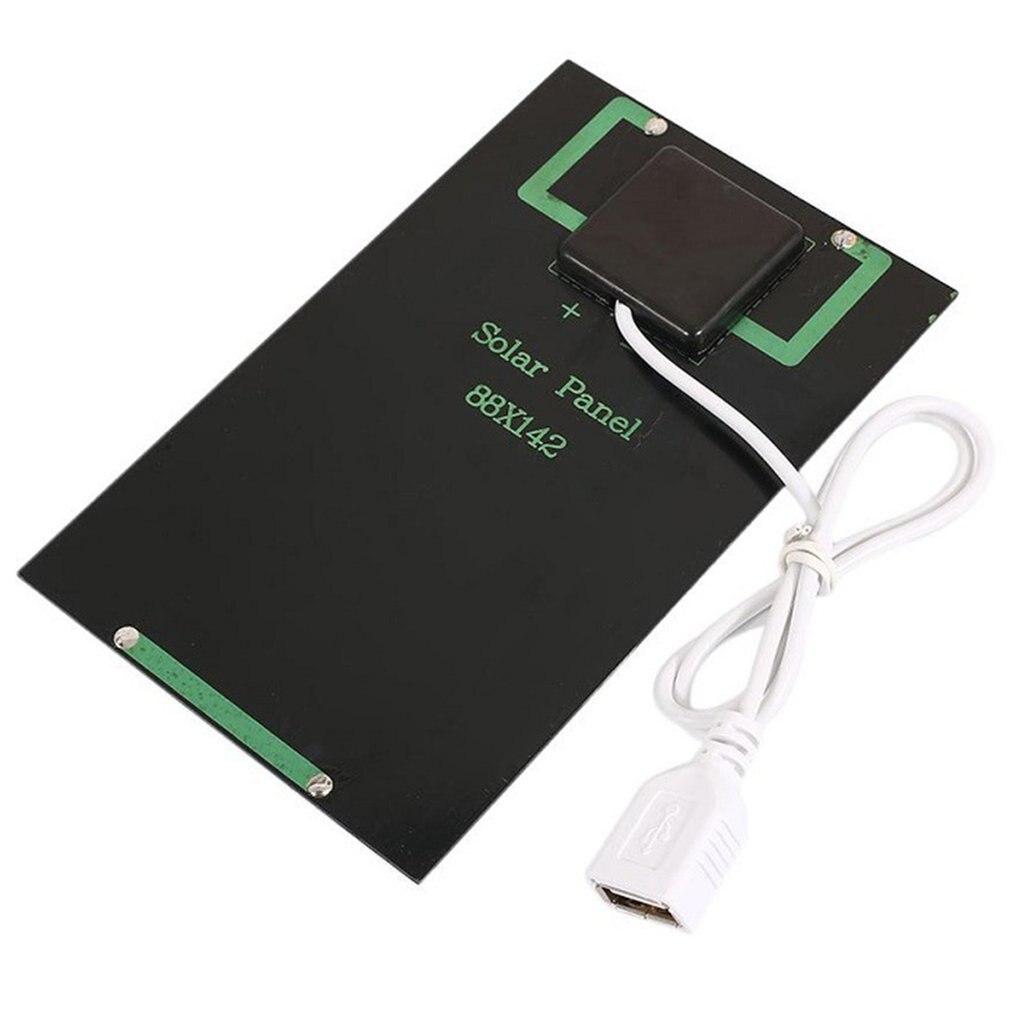 Cargador de batería de Panel Solar de 5W y 5V, módulo Solar artesanal con puerto USB, placa de carga Solar portátil para teléfonos móviles y exteriores