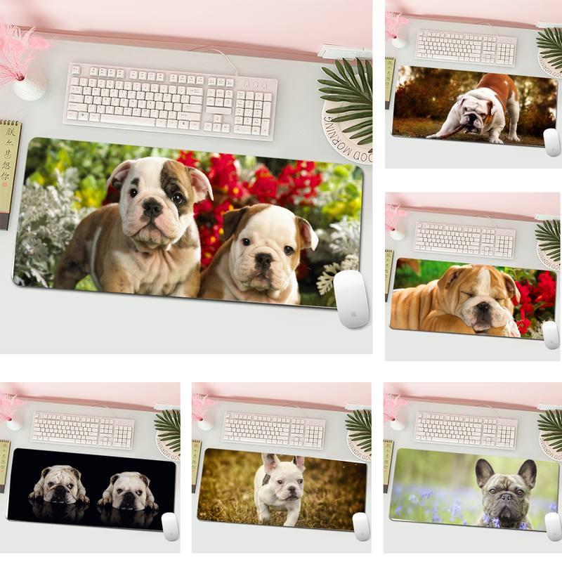 Bulldog Keyboards Mat Rubber Gaming mousepad Desk Mat L Large Gamer Keyboard PC Desk Mat Computer Tablet Gaming Mouse Pad