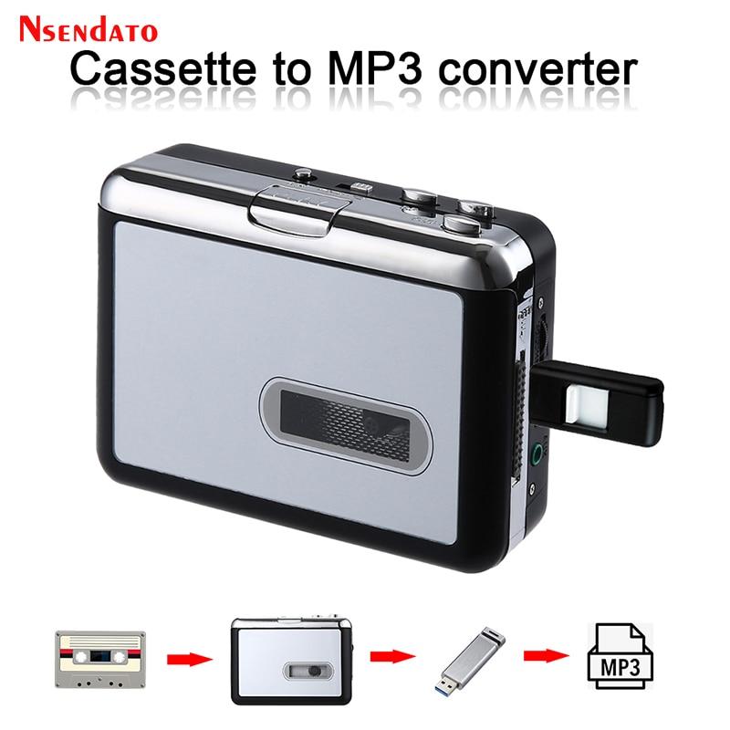 Ezcap231 USB كاسيت مشغل الصوت الموسيقى إلى MP3 محول USB كاسيت لاعب التقاط مسجل لمحرك فلاش USB لا كمبيوتر