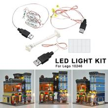LED Light Kit For Lego 10246 Detective Agency Street View Lighting Diy Set Assembled Building Blocks Toys