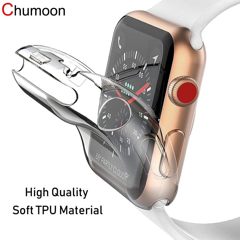 case for apple watch series 6 5 4 3 2 1 se band all around ultra thin screen protector cover iwatch case 44mm 40mm 42mm 38mm Strap for Apple watch band 44MM 40MM iwatch 38mm 42mm wrist bracelet Screen Protector Case Apple Watch Series 6 SE 5 4 3 band
