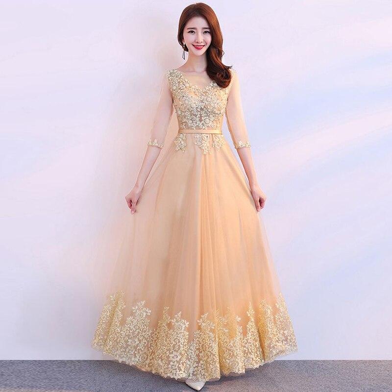 Vestidos de lujo para bodas, Vestido largo de encaje con cuentas de...