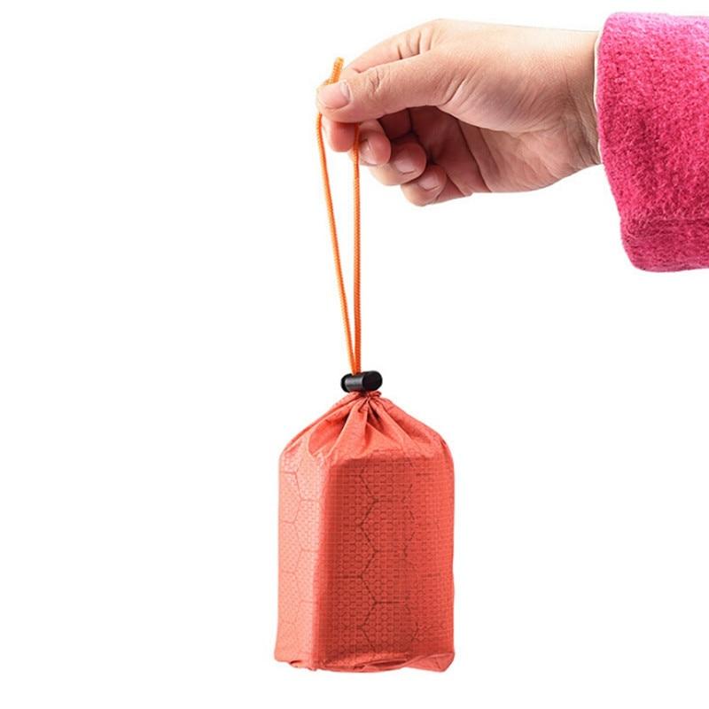 Bolsa de dormir de emergencia para exteriores, supervivencia, Camping, senderismo, Campamento, térmica, resistente al agua, bolsas para dormir, bolsa de dormir portátil