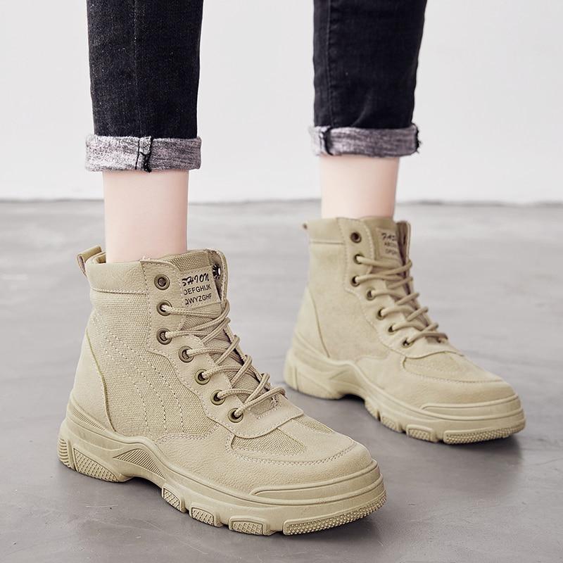 Botines de Mujer Zapatos mujer Botines Otoño Invierno zapato femenino moda Casual ocio Tenis Femenino de talla grande 35-44 gran oferta