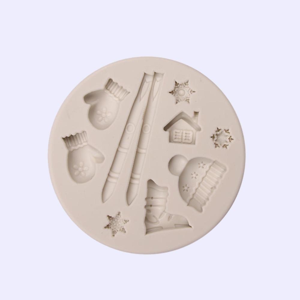 Molde de silicona para galletas, postres, cubitos de hielo y dulces, 1 unidad