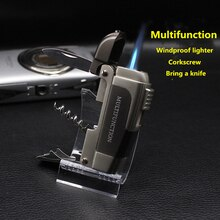 Personalized Hot-Selling Multifunctional Butane Jet Lighter Cigar Lighter Pipe Accessories Turbine W