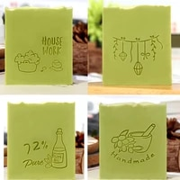 house work pattern stamp home cleaning natural seal with handle acrylic transparent soap stamp for handmade diy making chapters