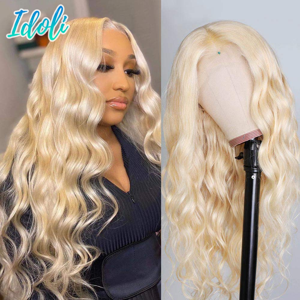 Blonde 613 Lace Frontal Wig 13x4 13x4x1 Body Wave Lace Front Wig Human Hair Peruvian Lemoda Remy 180 Density 613 Wig 30 Inch