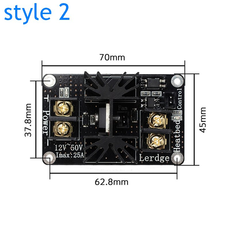 New 3D Printer Heated Bed Power Module High Current 210A MOSFET Upgrade RAMPS 1.4 @M23