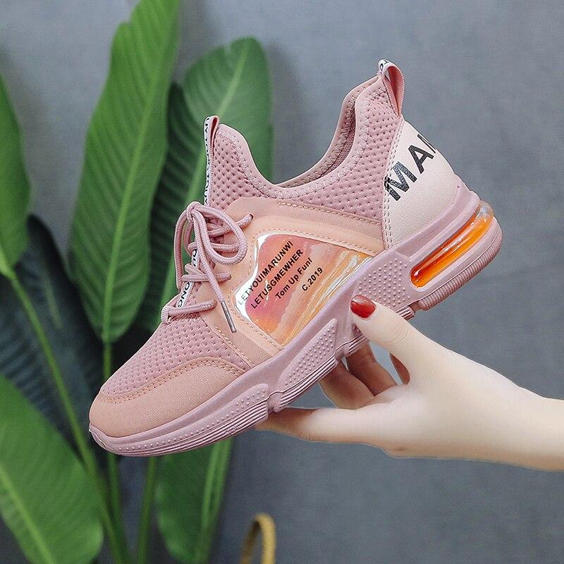 Cómodas zapatillas deportivas para gimnasio, zapatillas de tenis para mujer, zapatillas deportivas de estabilidad para mujer, zapatillas deportivas de malla tejidas con amortiguación de aire, zapatos deportivos para mujer