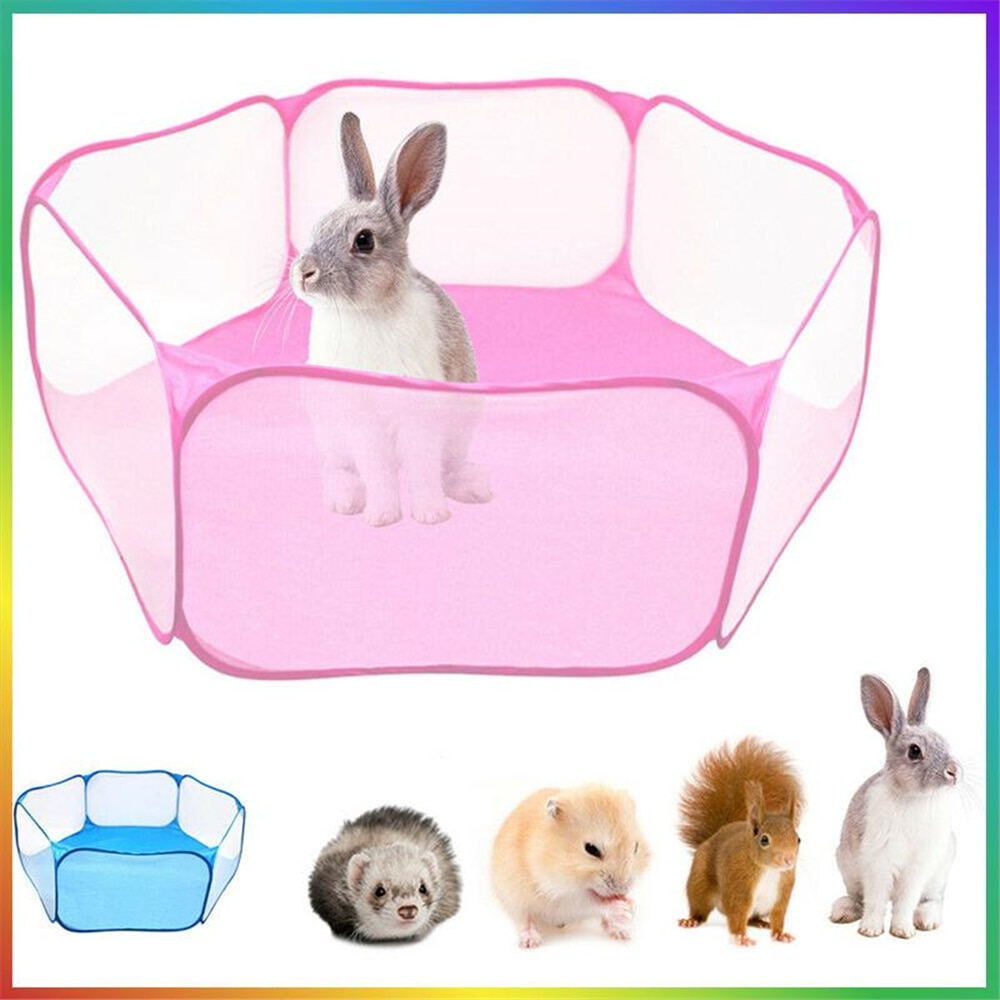Parque portátil para mascotas abrir interior/al aire libre jaula de animales pequeños...