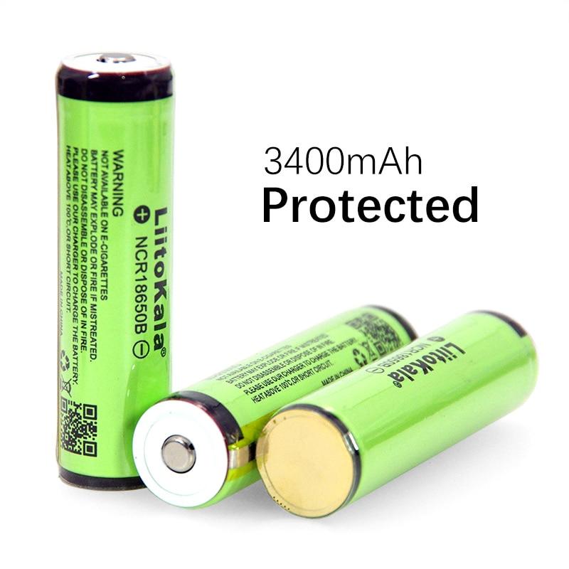 Liitokala nueva 18650 3400mAh 3,7 V batería de litio para linternas plus guard batería recargable de Compras gratis