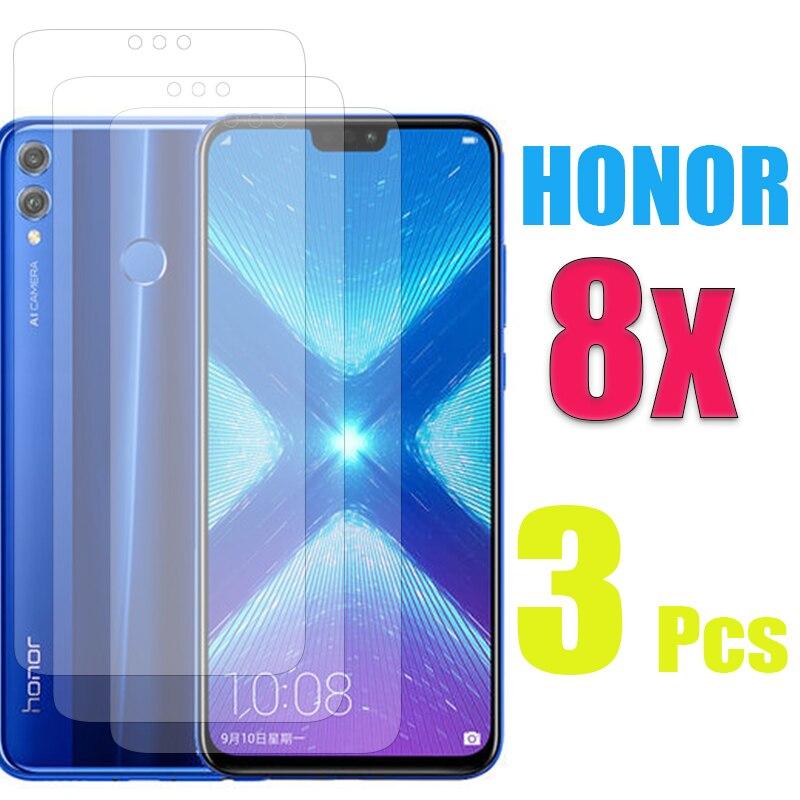 Vidrio Protector para Huawei Honor 8X Protector de pantalla huwei honer hono 8 x x8 transparente 9D vidrio templado película 1 a 3 uds