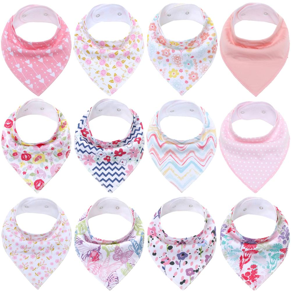 Baby Bandana Bibs Organic Cotton Feeding for Drooling and Teething Soft Absorbent Fashion Infant