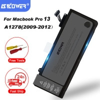 SKOWER 65.5Wh 10.95V Laptop A1278 A1322 Battery For Apple Macbook Pro 13\
