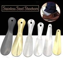 1 PC acier inoxydable chausse-pied petit Portable métal chaussure corne chaussures Lifter outil nouveau chaussure cuillère unisexe chausse-pied longue humeur 6 taille